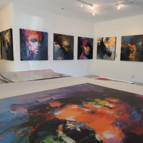 Peter Pharoah at his Art Gallery in Wilderness