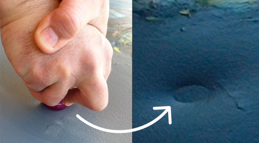 Peter Pharoah demonstrates How to fix a dent in your canvas
