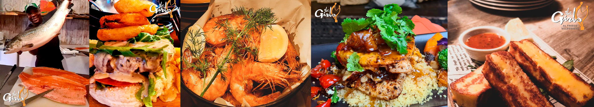 Delicious freshly prepared meals at The Girls on the Square restaurant in Wilderness
